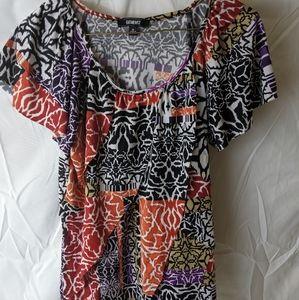 Elementz multi-color tiered blouse
